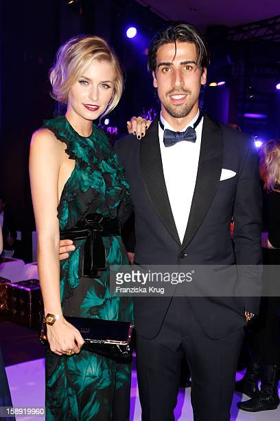 Lena Gercke and Semi Khedira attend the 'BAMBI Awards 2012' at the Stadthalle Duesseldorf on November 22 2012 in Duesseldorf Germany