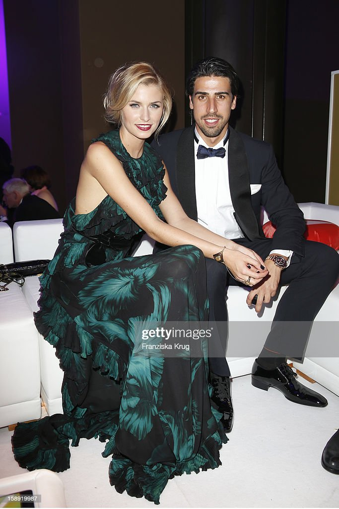 Lena Gercke and Semi Khedira attend the 'BAMBI Awards 2012' at the Stadthalle Duesseldorf on November 22, 2012 in Duesseldorf, Germany.