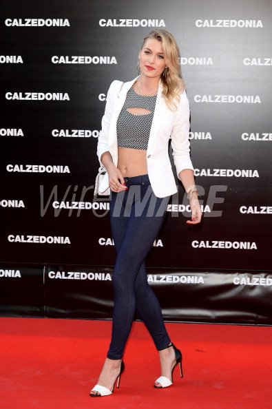 Lena Gercke Arrives At The Calzedonia Forever Together Show