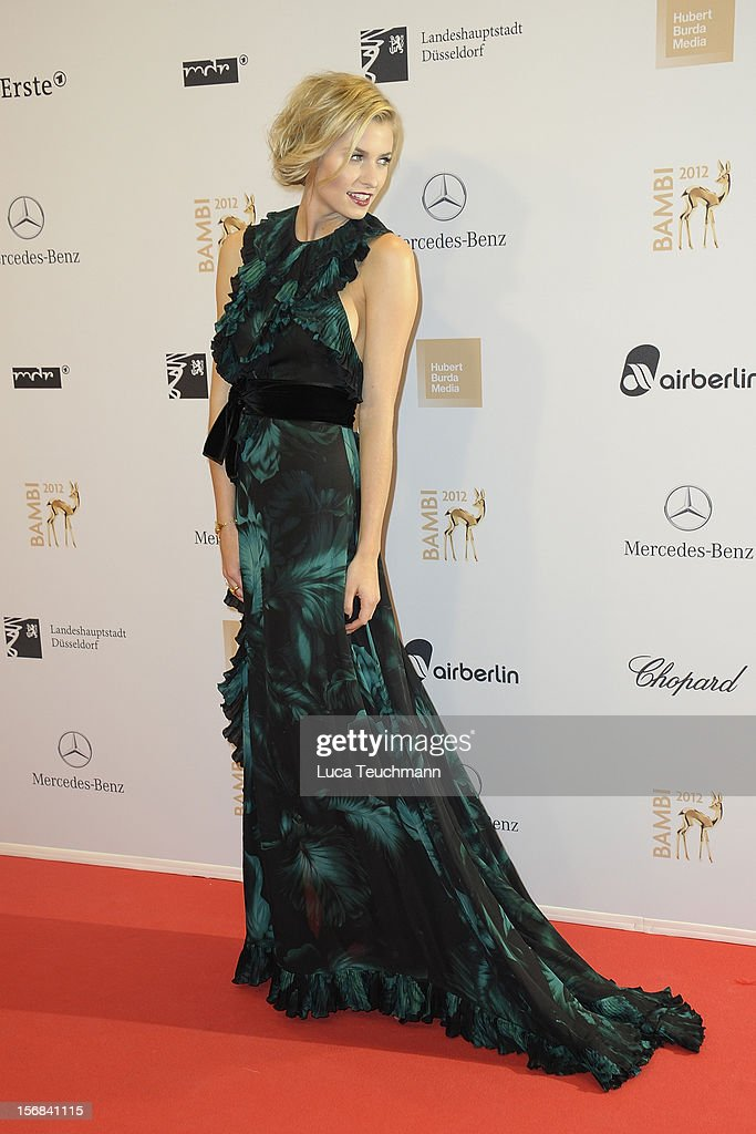 Lena Gercke attends 'BAMBI Awards 2012' at the Stadthalle Duesseldorf on November 22, 2012 in Duesseldorf, Germany.