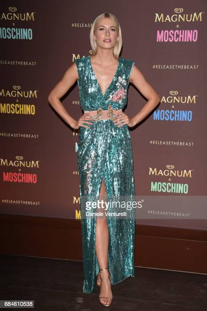 Lena Gercke attends Magnum party during the 70th annual Cannes Film Festival at Magnum Beach on May 18 2017 in Cannes France