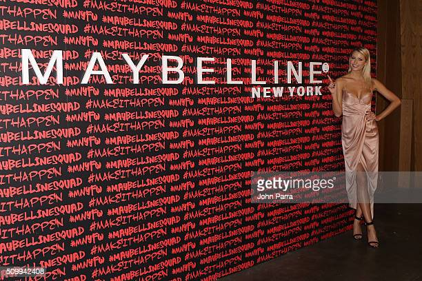 Lena Gercke attends Maybelline New York celebrates fashion week at Dream Downtown Hotel on February 12 2016 in New York City