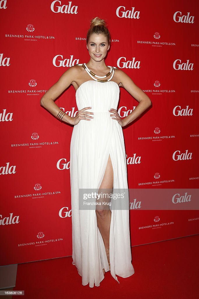 <a gi-track='captionPersonalityLinkClicked' href=/galleries/search?phrase=Lena+Gercke&family=editorial&specificpeople=579958 ng-click='$event.stopPropagation()'>Lena Gercke</a> attends the Gala Spa Awards 2013 at the Brenners Park Hotel on March 16, 2013 in Berlin, Germany.