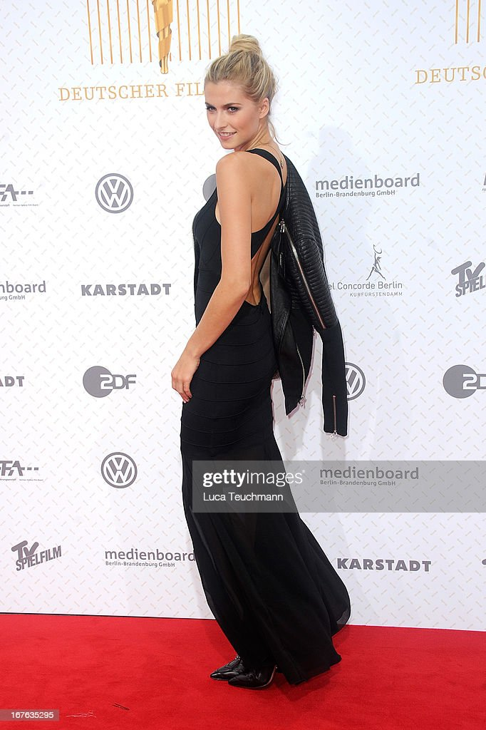 Lena Gercke attends the Lola German Film Award 2013 at Friedrichstadtpalast on April 26, 2013 in Berlin, Germany.
