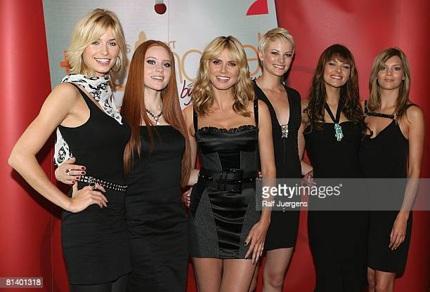 Lena Gercke Barbara Meier Heidi Klum Jennifer Janina and Christina attend a photocall for PRO7 TV show 'Germanys Next Topmodel' on June 04 2008 at...
