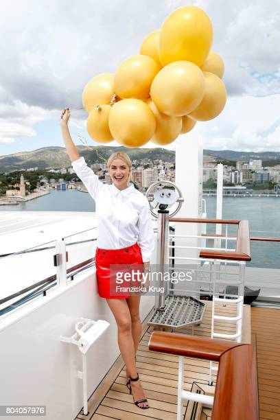 Lena Gercke christens the AIDAperla cruise ship on June 30 2017 in Palma de Mallorca Spain