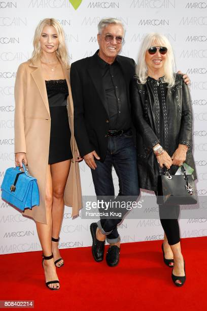 Lena Gercke Helmut Schlotterer Founder and CEO of Marc Cain and his wife Ute Schlotterer attend the Marc Cain Fashion Show Spring/Summer 2018 at...