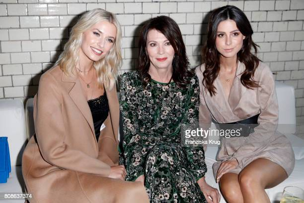 Lena Gercke Iris Berben and Lena MeyerLandrut attend the Marc Cain Fashion Show Spring/Summer 2018 at ewerk on July 4 2017 in Berlin Germany