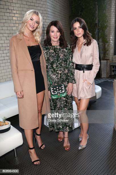 Lena Gercke Iris Berben and Lena MeyerLandrut during the Marc Cain Fashion Show after show party Spring/Summer 2018 at ewerk on July 4 2017 in Berlin...