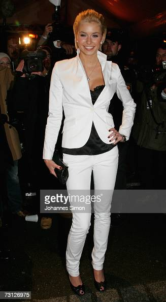 Lena Gercke winner of 'Germany's Next Top Model' attends the Audi Party night at Hotel Tenne January 26 2007 in Kitzbuehel Austria