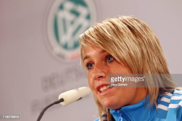 Lena Goessling attends a Germany press conference at Hilton Hotel on July 6 2011 in Duesseldorf Germany