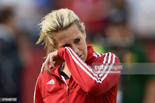 Lena Goessling of Germany looks dejected after the FIFA Women's World Cup Canada 2015 Third Place Playoff match between Germany and England at...