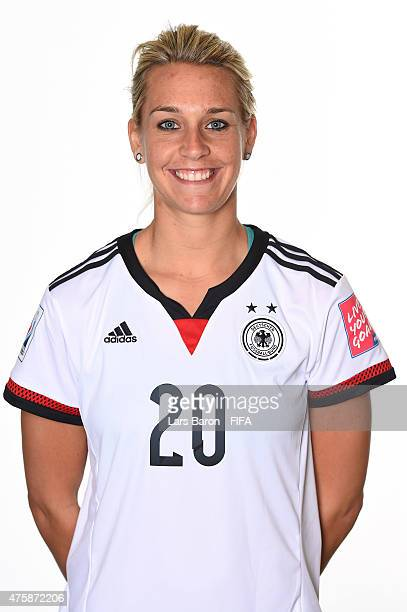Lena Goessling of Germany poses during the FIFA Women's World Cup 2015 portrait session at Fairmont Chateau Laurier on June 3 2015 in Ottawa Canada