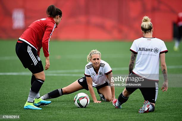 Lena Goessling of Germany practices during a training session at Wesley Cover Park on June 9 2015 in Ottawa Canada