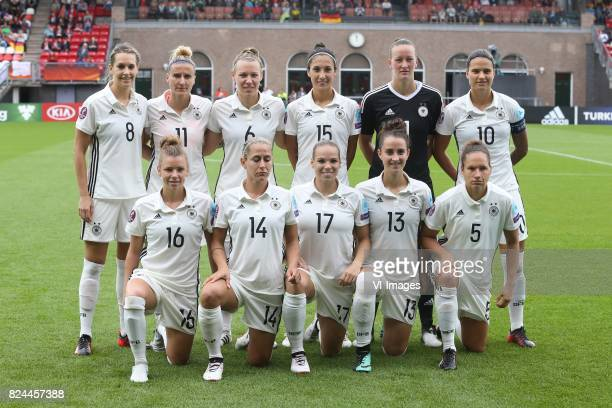 Lena Goessling of Germany women Anja Mittag of Germany women Kristin Demann of Germany women Sara DoorsounKhajeh of Germany women goalkeeper Almuth...