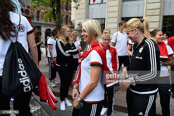 Lena Goessling reacts as Germany team take a boat ride on June 5 2015 in Ottawa Canada