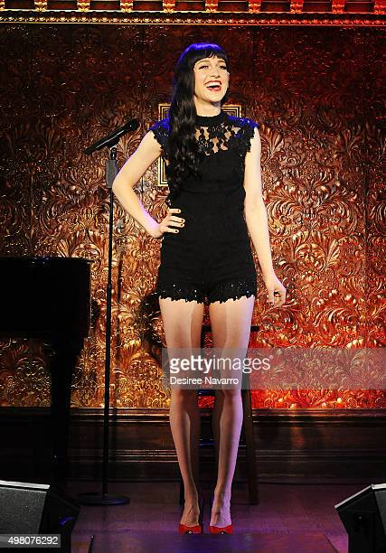 Lena Hall attends Feinstein's 54 Below Press Preiew at 54 Below on November 20 2015 in New York City
