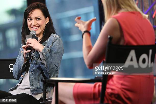 Lena Hall speaks with Laura Heywood at AOL Build Speaker Series Lena Hall 'Sin Salvation Live At the Carlyle' at AOL Studios In New York on June 10...