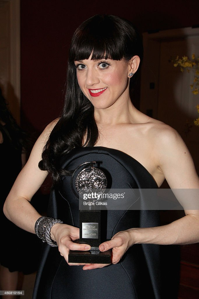 <a gi-track='captionPersonalityLinkClicked' href=/galleries/search?phrase=Lena+Hall&family=editorial&specificpeople=9446196 ng-click='$event.stopPropagation()'>Lena Hall</a> winner of award for Best Performance by an Actress in a Feature Role in a Musical for 'Hedwig and the Angry Inch' poses in the press room during the American Theatre Wing's 68th Annual Tony Awards at Radio City Music Hall on June 8, 2014 in New York City.