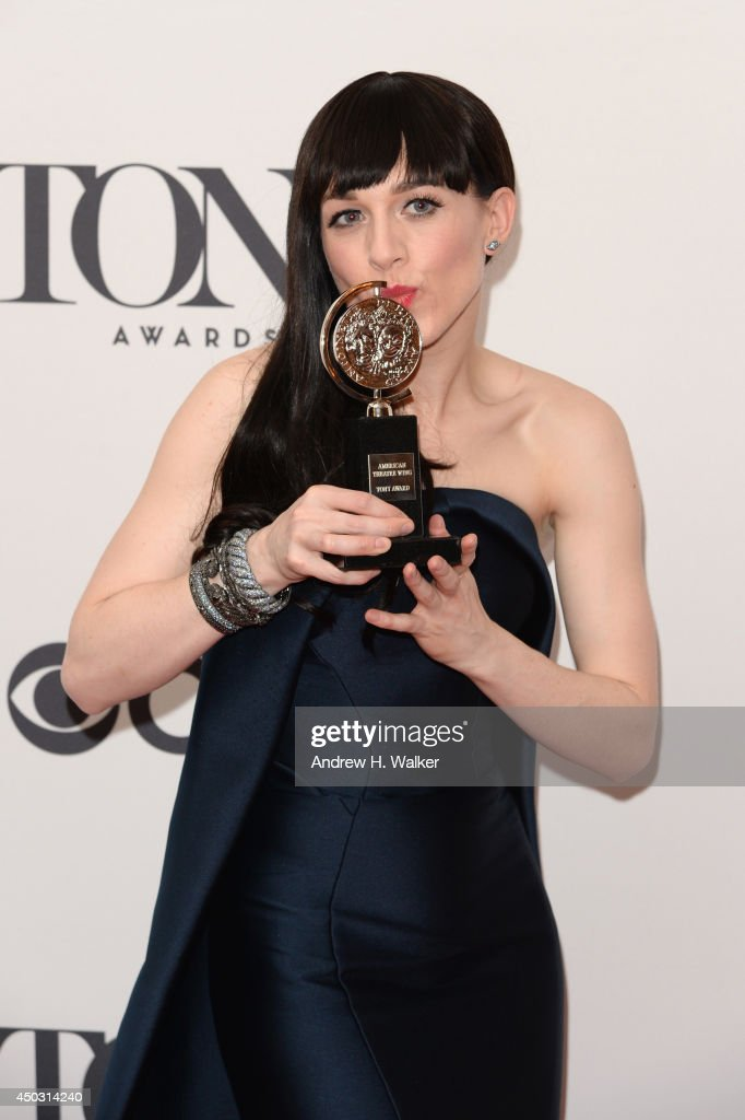 <a gi-track='captionPersonalityLinkClicked' href=/galleries/search?phrase=Lena+Hall&family=editorial&specificpeople=9446196 ng-click='$event.stopPropagation()'>Lena Hall</a> winner of award for Best Performance by an Actress in a Feature Role in a Musical for 'Hedwig and the Angry Inch' poses in the press room during the 68th Annual Tony Awards on June 8, 2014 in New York City.