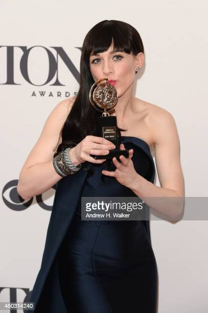 Lena Hall winner of award for Best Performance by an Actress in a Feature Role in a Musical for 'Hedwig and the Angry Inch' poses in the press room...