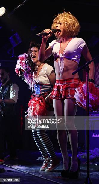 Lena Hall with Courtney Act performing at 'Broadway The Hardway' Live at 42 West on July 28 2014 in New York City