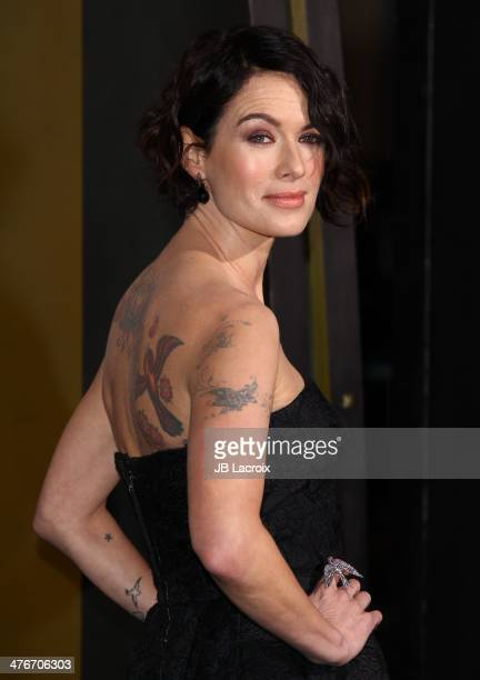 Lena Headey attends the '300 Rise Of An Empire' Los Angeles Premiere held at TCL Chinese Theatre on March 4 2014 in Hollywood California