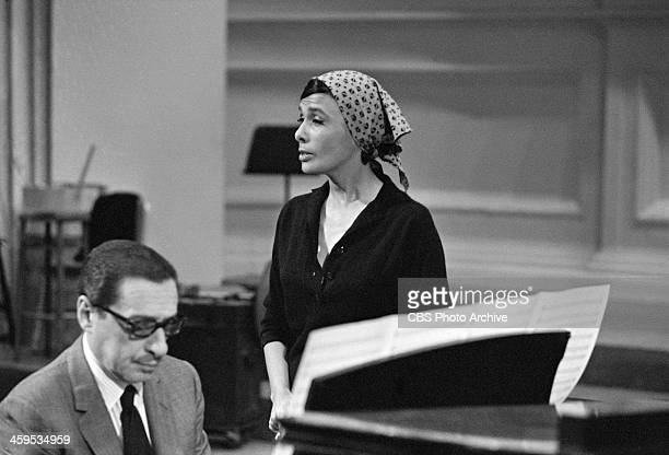 Lena Horne singing and Harold Arlen on piano on THE TWENTIETH CENTURY episode 'The Songs of Harold Arlen' Image dated October 1 1963