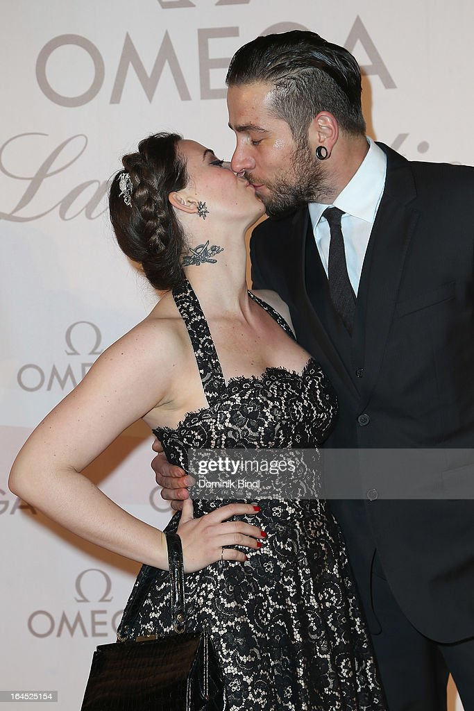 Lena Hoschek and her partner Mario Frajuk attend the Omega Gala 'La Nuit Enchantee' at Gartenpalais Liechtenstein on March 23, 2013 in Vienna, Austria.