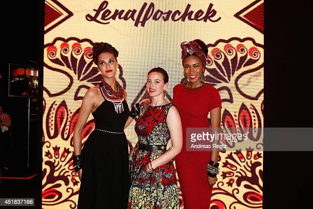 Lena Hoschek attends the Lena Hoschek show during the MercedesBenz Fashion Week Spring/Summer 2015 at Erika Hess Eisstadion on July 8 2014 in Berlin...