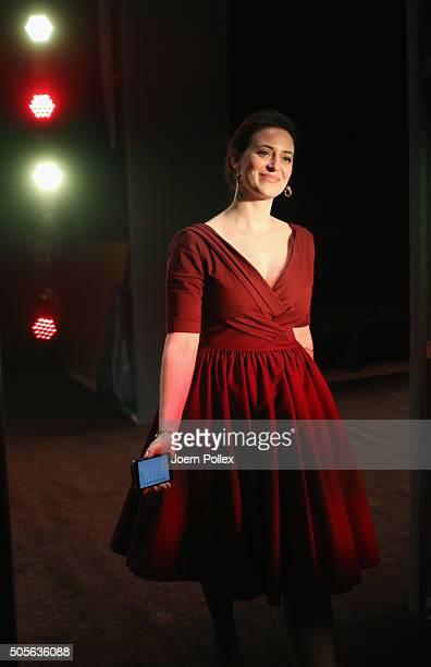 Lena Hoschek is seen backstage ahead of the Lena Hoschek show during the MercedesBenz Fashion Week Berlin Autumn/Winter 2016 at Brandenburg Gate on...
