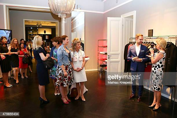 Lena Hoschek Ronny Borck and Elisabeth Guertler attend the Escada 'Fete Imperiale' 2015 on June 2 2015 in Vienna Austria