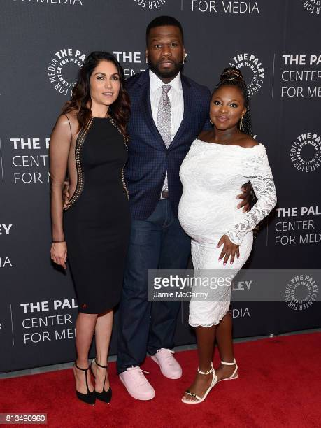 Lena Loren Curtis '50 Cent' Jackson and Naturi Naughton attend the PaleyLive NY Presents An Evening With The Cast And Creative Team Of 'Power' at The...