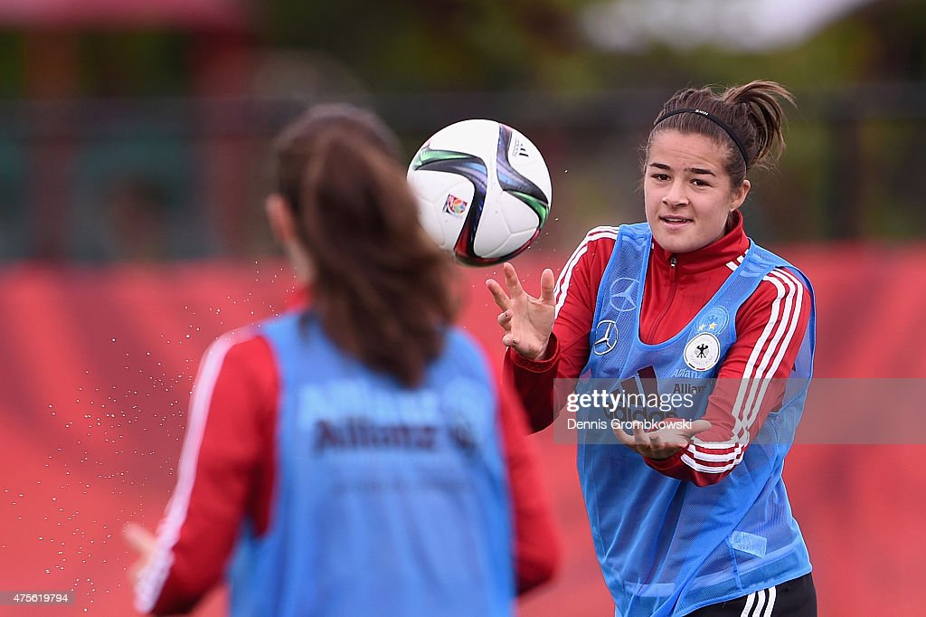 Lena Lotzen of Germany practices during a morning traning session at Richcraft Recreation Complex on June 2, 2015 in Ottawa, Canada.