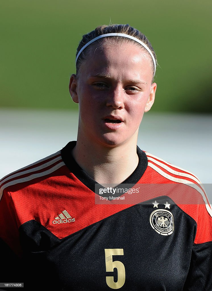 Lena Luckel of Germany during the Women's International Friendly match between England Under 19 Women and Germany Under 19 Women at St George's Park on September 22, 2013 in Burton upon Trent, England.