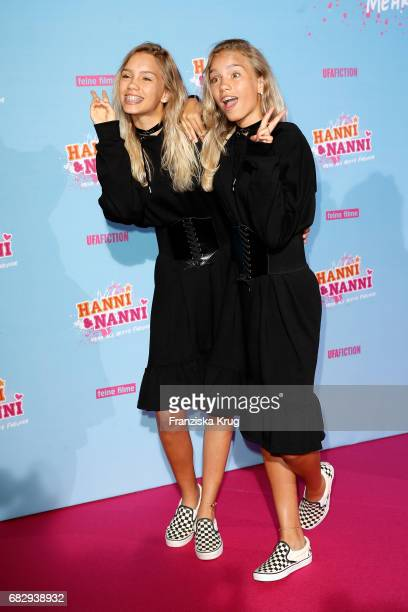 Lena Mantler and Lisa Mantler during the premiere of the film 'Hanni Nanni Mehr als beste Freunde' at Kino in der Kulturbrauerei on May 14 2017 in...