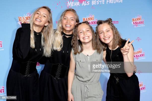 Lena Mantler Lisa Mantler Laila Meinecke and Rosa Meinecke during the premiere of the film 'Hanni Nanni Mehr als beste Freunde' at Kino in der...