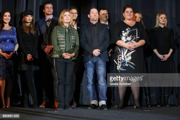 Lena Meckel Karin Thaler Juergen Tonkel Nadine Wrietz during the 'Dieses bescheuerte Herz' premiere at Mathaeser Filmpalast on December 11 2017 in...