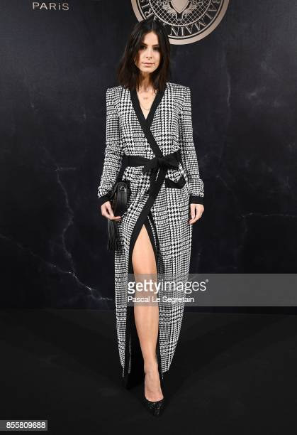 Lena Meyer Landrut attends the L'Oreal Paris X Balmain event as part of the Paris Fashion Week Womenswear Spring/Summer 2018 on September 28 2017 in...
