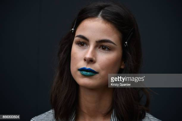 Lena Meyer Landrut backstage prior Le Defile L'Oreal Paris as part of Paris Fashion Week Womenswear Spring/Summer 2018 at Avenue Des Champs Elysees...