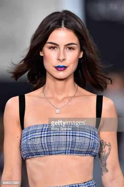Lena Meyer Landrut walks the runway during Le Defile L'Oreal Paris as part of Paris Fashion Week Womenswear Spring/Summer 2018 at Avenue Des Champs...