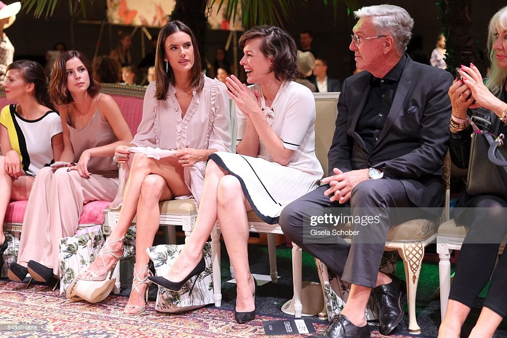 <a gi-track='captionPersonalityLinkClicked' href=/galleries/search?phrase=Lena+Meyer-Landrut+-+German+Singer&family=editorial&specificpeople=6837968 ng-click='$event.stopPropagation()'>Lena Meyer-Landrut</a>, <a gi-track='captionPersonalityLinkClicked' href=/galleries/search?phrase=Alessandra+Ambrosio&family=editorial&specificpeople=203062 ng-click='$event.stopPropagation()'>Alessandra Ambrosio</a> and <a gi-track='captionPersonalityLinkClicked' href=/galleries/search?phrase=Milla+Jovovich&family=editorial&specificpeople=202207 ng-click='$event.stopPropagation()'>Milla Jovovich</a> and Helmut Schlotterer, Founder and CEO of Marc Cain during the Marc Cain fashion show spring/summer 2017 at CITY CUBE Panorama Bar on June 28, 2016 in Berlin, Germany.
