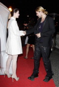 Lena MeyerLandrut and David Garrett arrive for the Musik Hilft charity dinner at Grill Royal on March 23 2011 in Berlin Germany