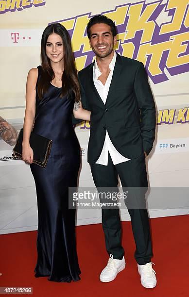 Lena MeyerLandrut and Elyas M'Barek attend the 'Fack ju Goehte 2' Munich Premiere at Mathaeser Filmpalast on September 7 2015 in Munich Germany