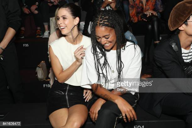 Lena MeyerLandrut and Lary Poppins attend the Zalando A/W 17 women fashion show during the Bread Butter by Zalando at BB Stage arena Berlin on...