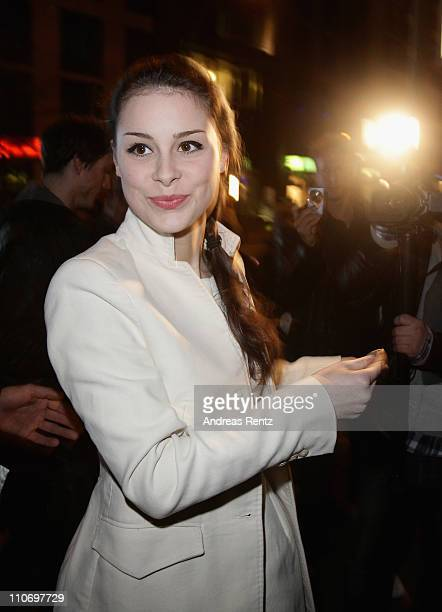 Lena MeyerLandrut arrives for the Musik Hilft charity dinner at Grill Royal on March 23 2011 in Berlin Germany