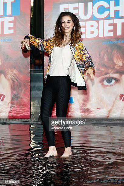 Lena MeyerLandrut attends 'Feuchtgebiete' Germany Premiere at Sony Centre on August 13 2013 in Berlin Germany