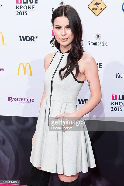 Lena MeyerLandrut attends the 1Live Krone 2015 at Jahrhunderthalle on December 3 2015 in Bochum Germany