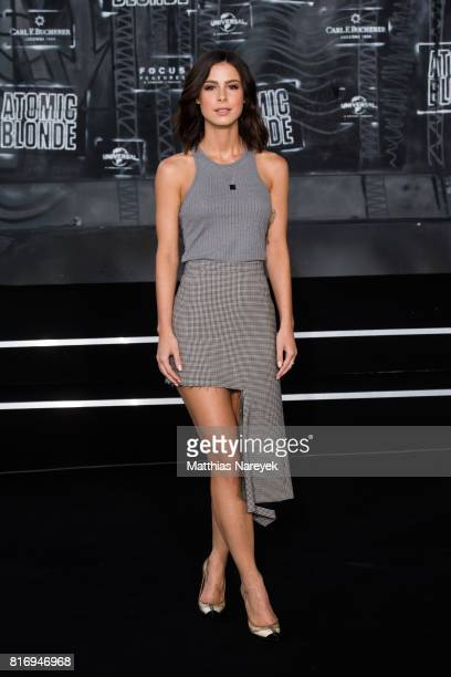 Lena MeyerLandrut attends the 'Atomic Blonde' World Premiere In Berlin at Stage Theater on July 17 2017 in Berlin Germany