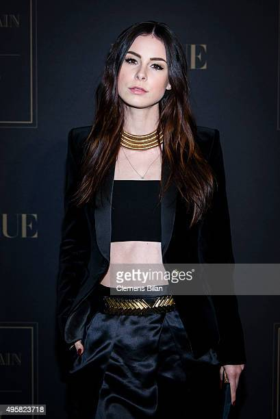 Lena MeyerLandrut attends the BALMAIN x HM Berlin Launch Party on November 4 2015 in Berlin Germany